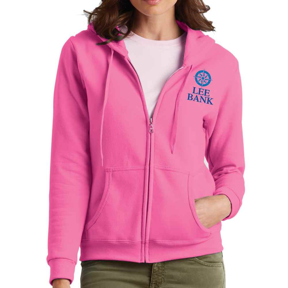 Gildan® Heavy Blend™ Women's Full-Zip Hooded Sweatshirt - Embroidery Personalization Available