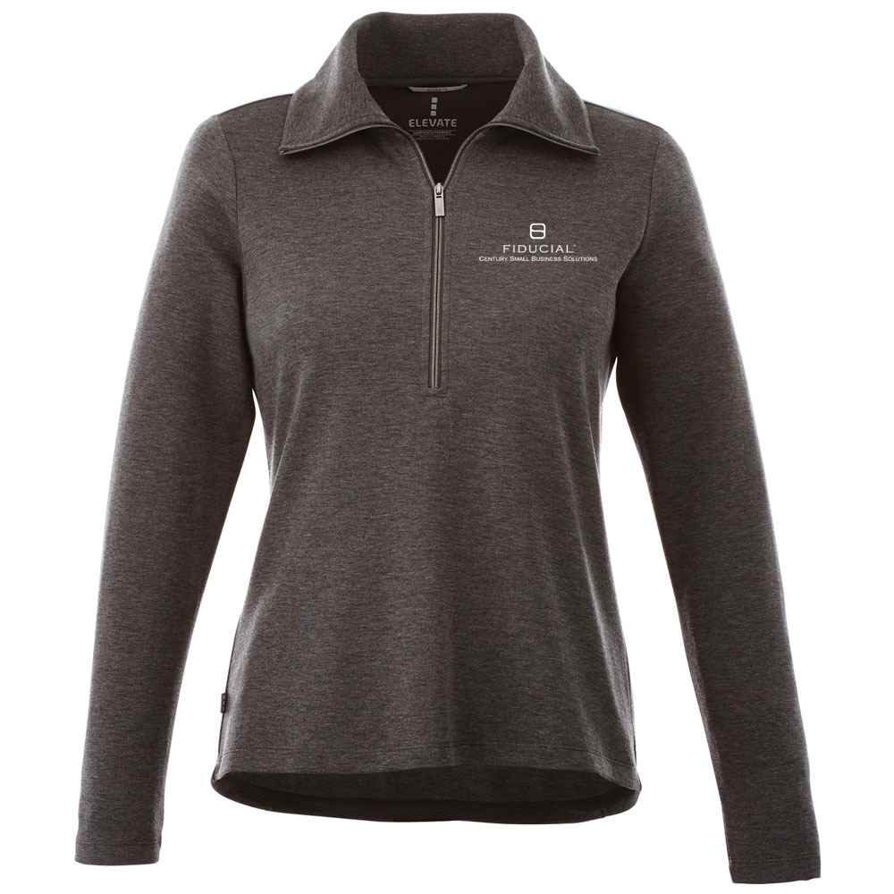 Elevate® Women's Stratton Knit Half Zip Sweater - Embroidery Personalization Available