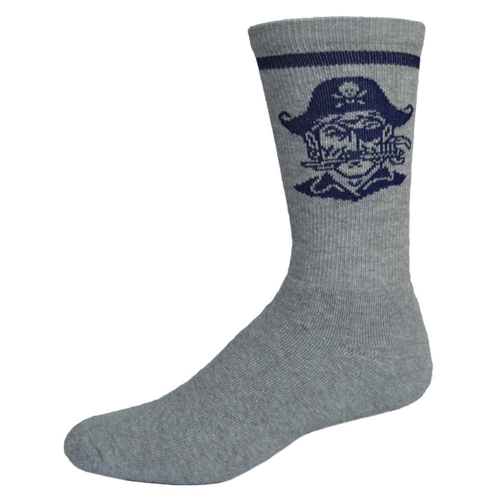 Super Soft Cotton Crew Sock In Color With Knit-In Logo - Personalization Available