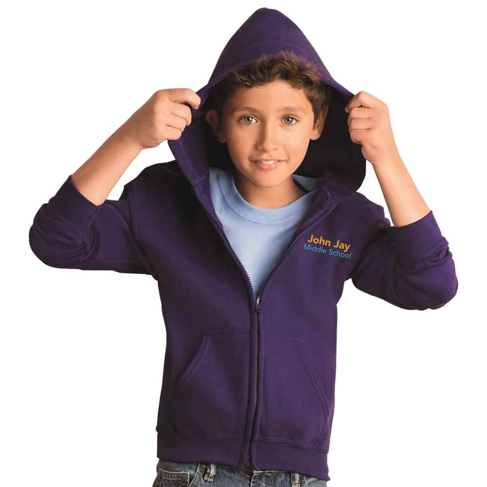 Gildan® Heavy Blend™ Youth Full-Zip Hooded Sweatshirt - Embroidery Personalization Available
