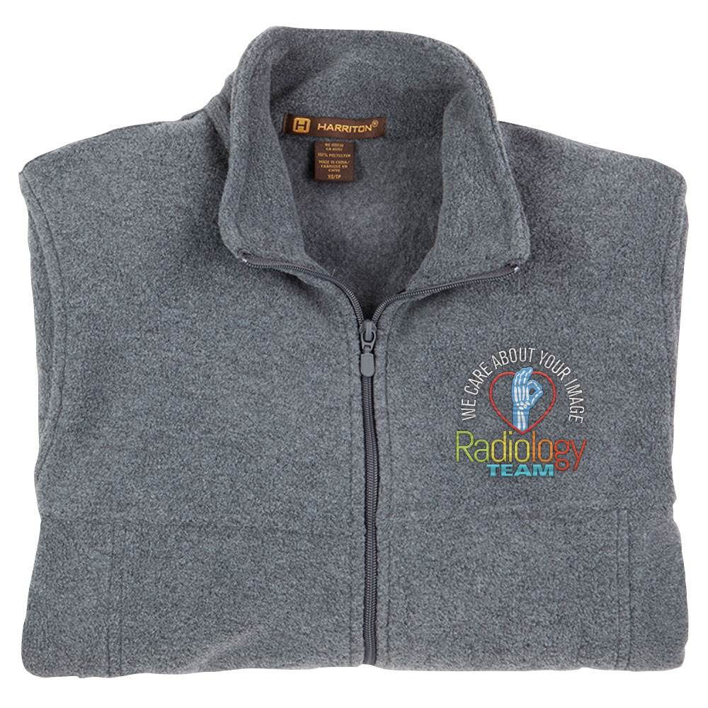 Radiology Team: We Care About Your Image Harriton® Men's Full-Zip Fleece Jacket - Personalization Available