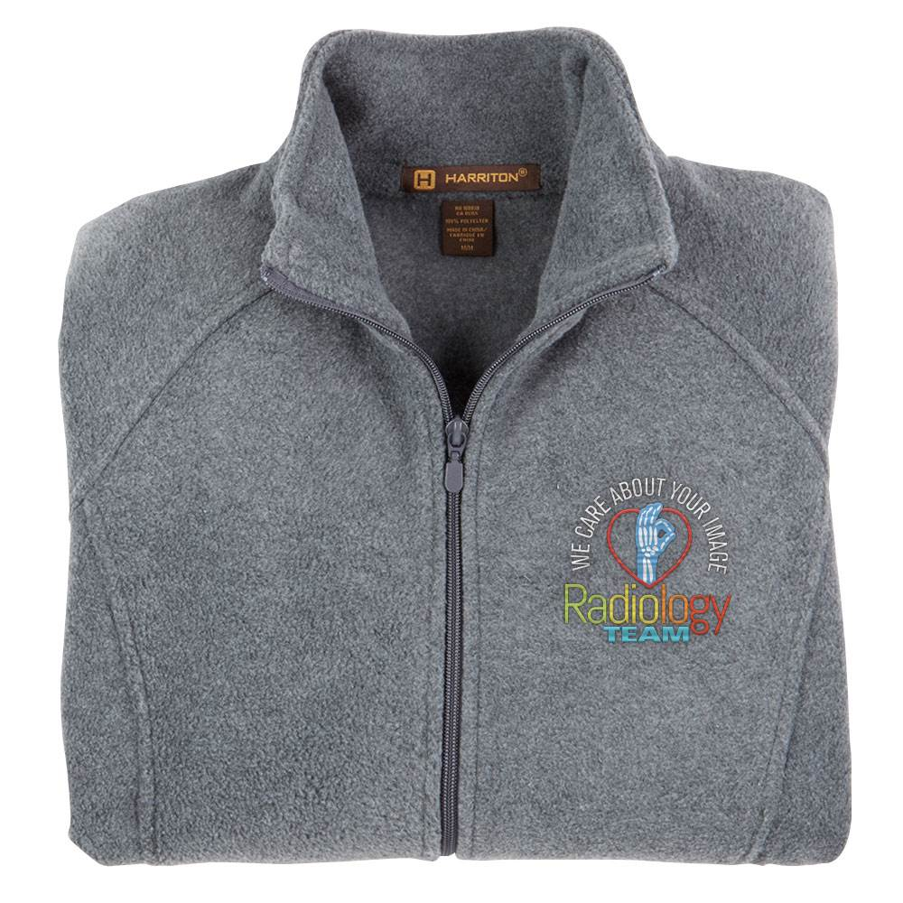 Radiology Team: We Care About Your Image Harriton® Women's Full-Zip Fleece Jacket - Personalization Available