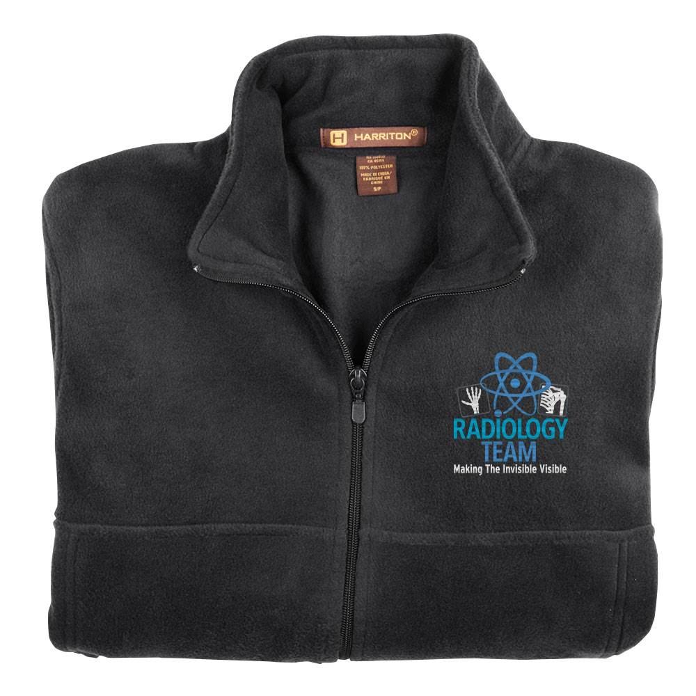 Radiology Team: Making The Invisible Visible Harriton® Men's Full-Zip Fleece Jacket - Personalization Optional