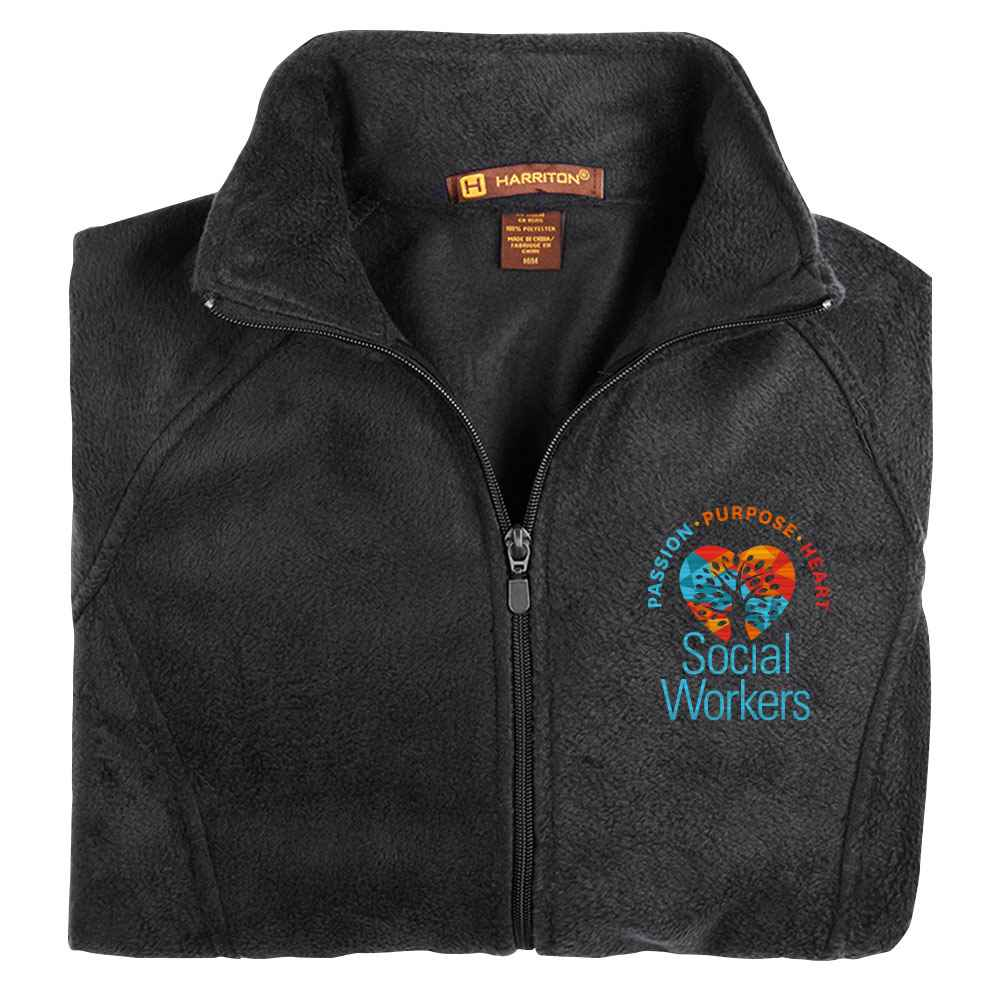 Social Workers: Passion, Purpose, Heart Harriton® Women's Full-Zip Fleece Jacket - Personalization Available