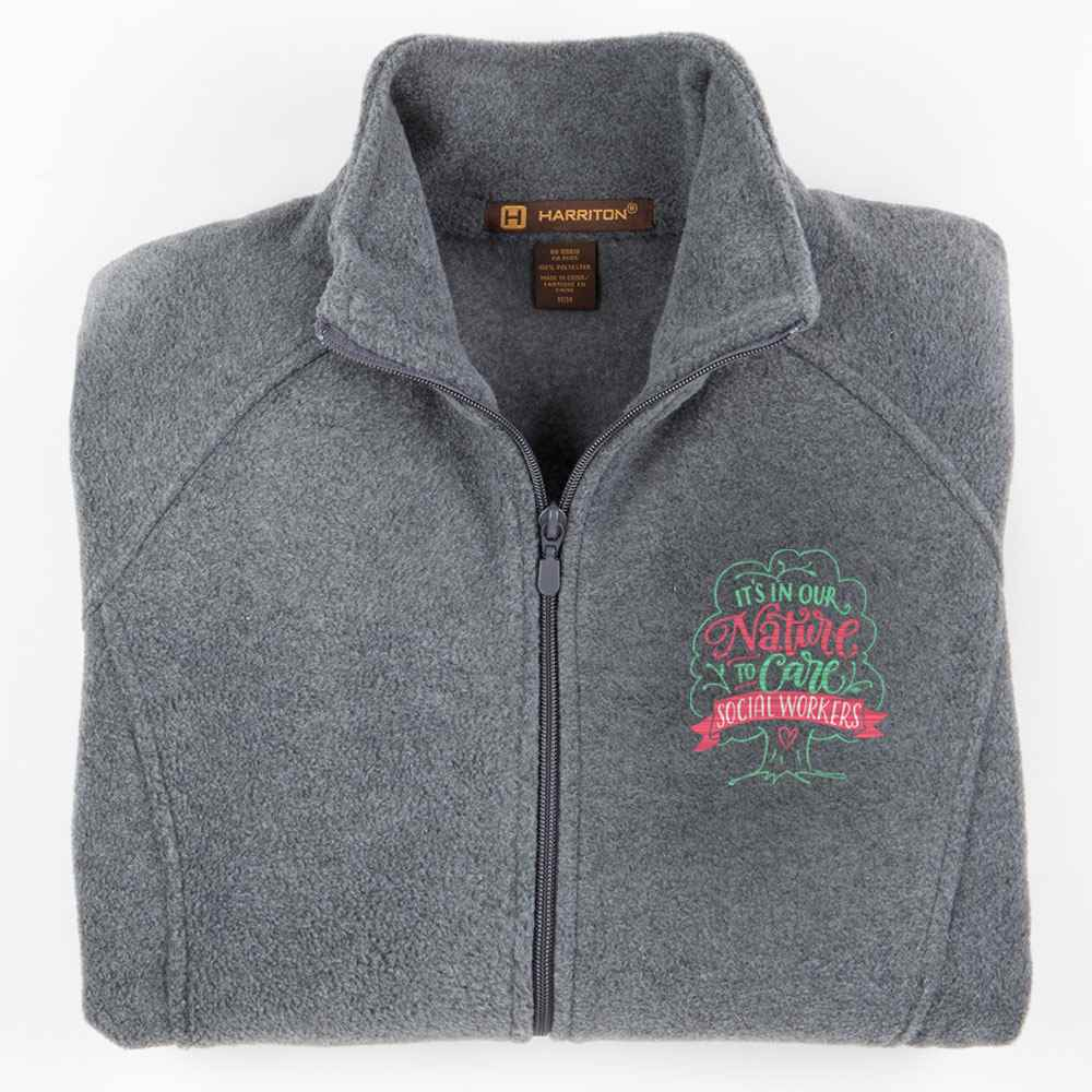 Social Workers: It's In Our Nature To Care Harriton® Women's Full-Zip Fleece Jacket - Personalization Available