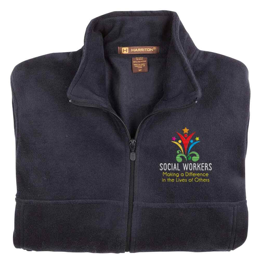 Social Workers: Making A Difference In The Lives Of Others Harrition® Men's Full-Zip Fleece Jacket - Personalization Available