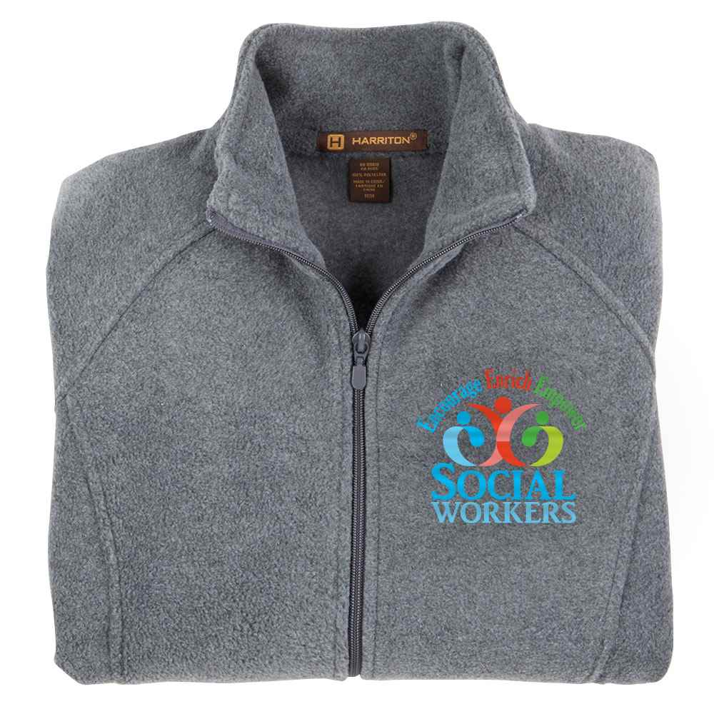 Social Workers: Encourage, Enrich, Empower Harriton® Women's Full-Zip Fleece Jacket - Personalization Available