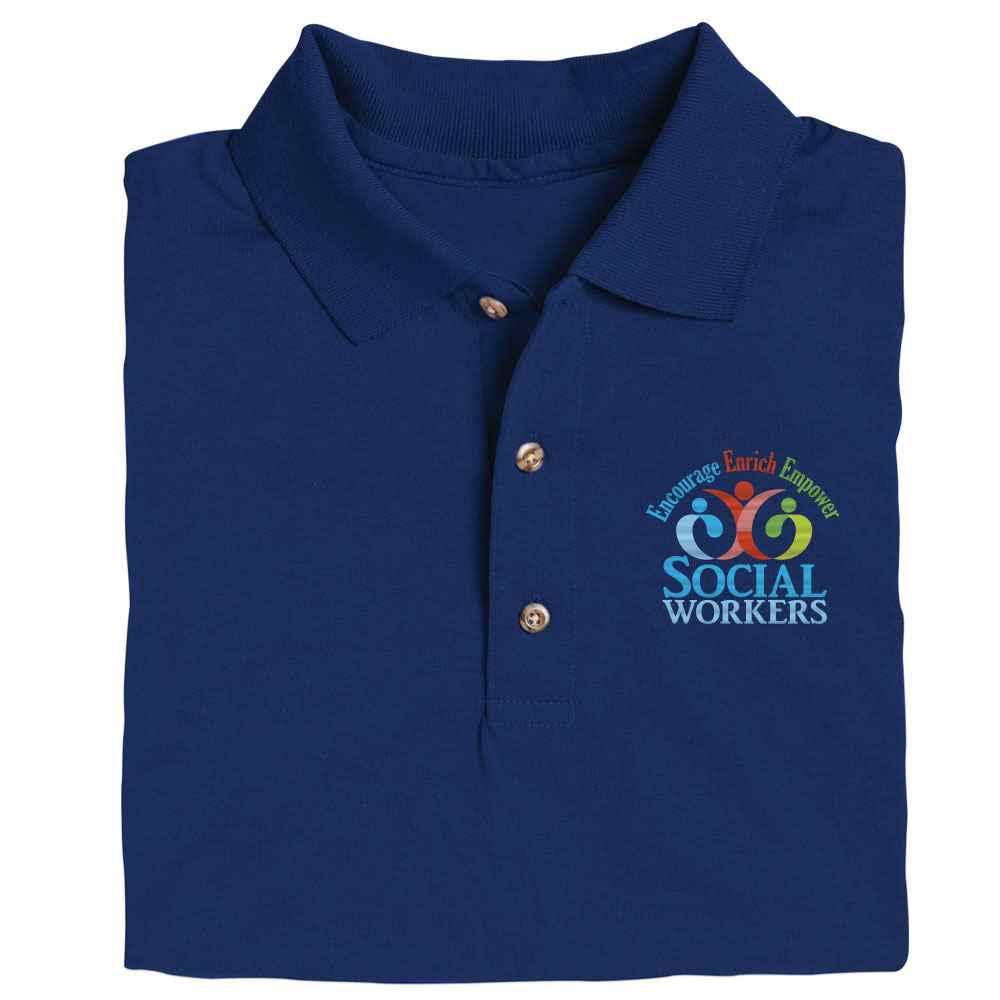 Social Workers: Encourage, Enrich, Empower Gildan® DryBlend Jersey Polo - Personalization Available