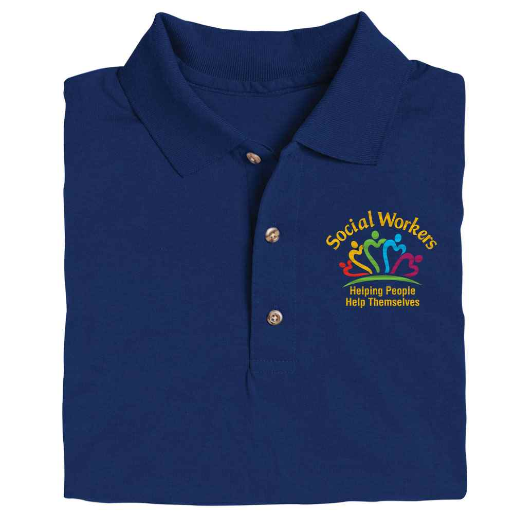 Social Workers: Helping People Help Themselves Gildan® DryBlend Jersey Polo - Personalization Available