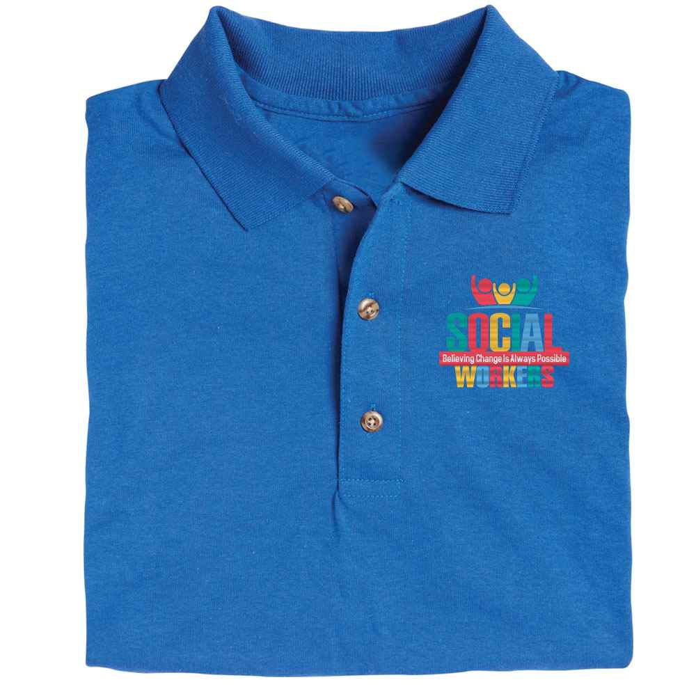 Social Workers: Believing Change Is Always Possible Gildan® DryBlend Jersey Polo - Personalization Available