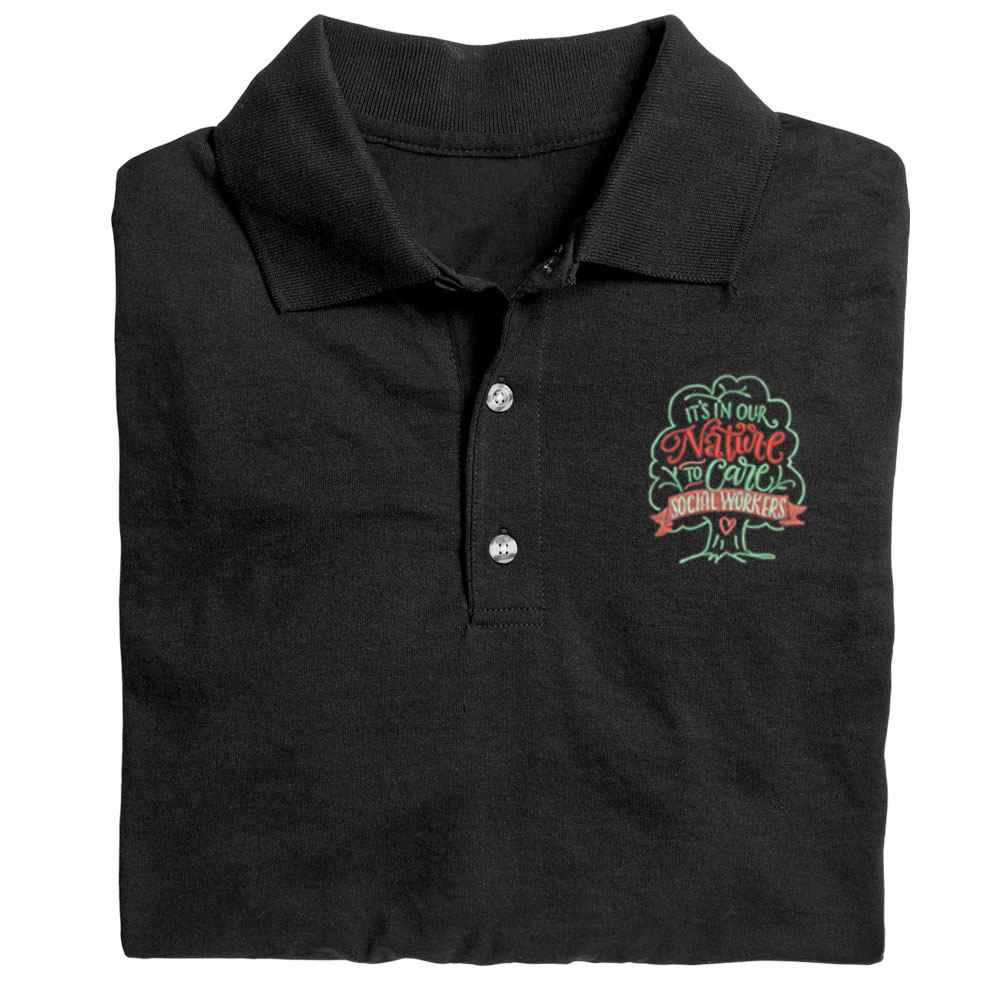 Social Workers: It's In Our Nature To Care Gildan® DryBlend Jersey Polo - Personalization Available