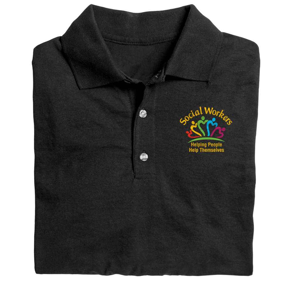 Social Workers: Passion, Purpose, Heart Gildan® DryBlend Jersey Polo - Personalization Available
