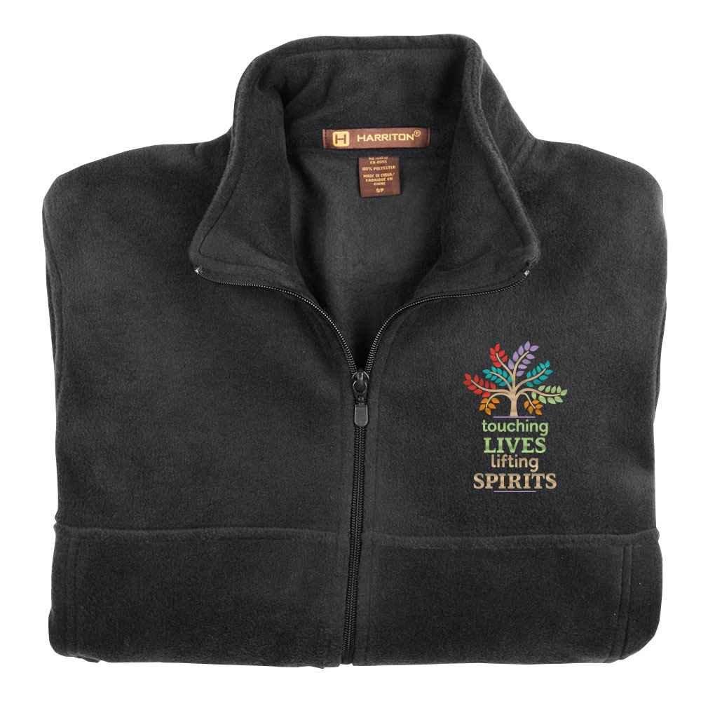 Touching Lives, Lifting Spirits Harriton® Fleece Full-Zip Jacket - Personalization Available