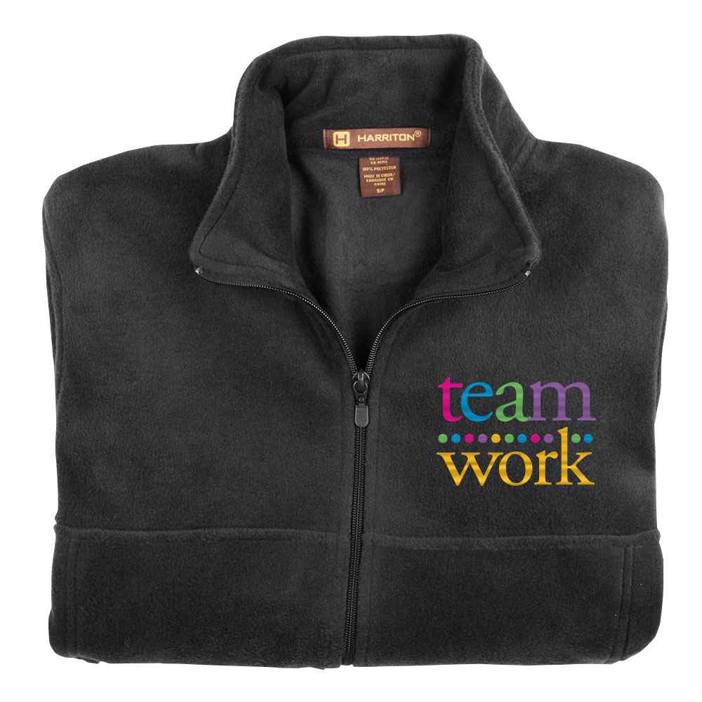 Teamwork Harriton® Men's Fleece Full-Zip Jacket
