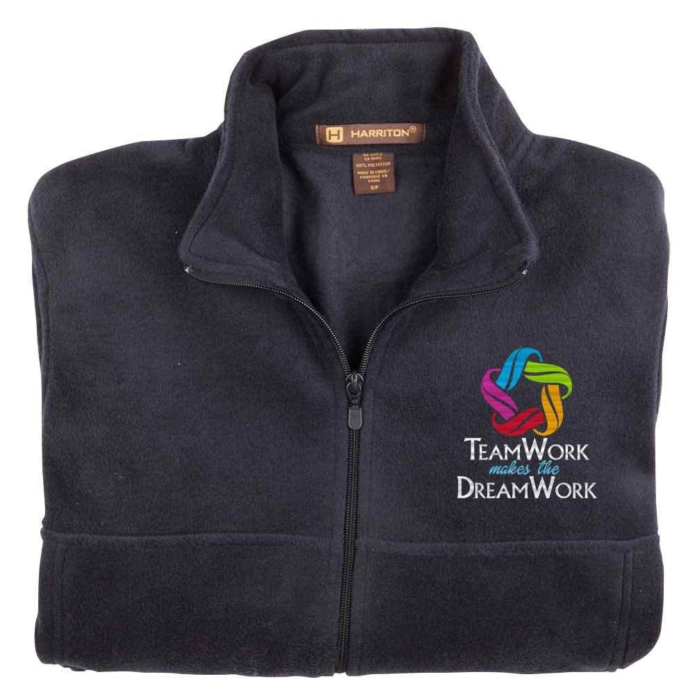 Teamwork Makes The Dream Work Harriton® Fleece Full-Zip Jacket - Personalization Available