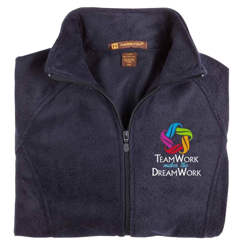 Teamwork Makes The Dream Work Harriton® Women's Fleece Full-Zip Jacket