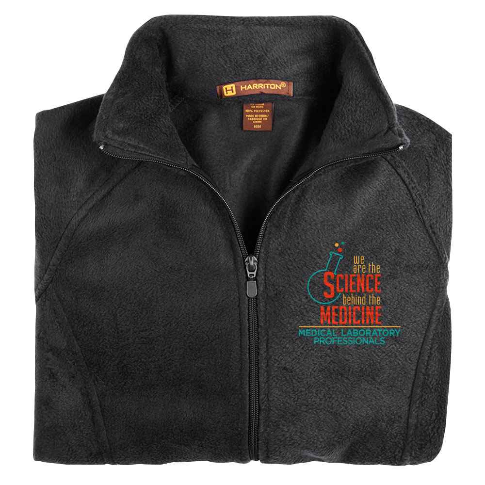 Medical Laboratory Professionals: We Are The Science Behind The Medicine Harriton® Fleece Full-Zip Women's Jacket - Personalization Available