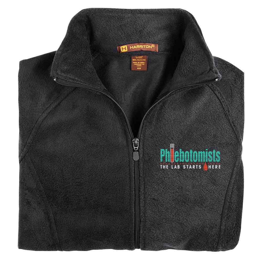 Phlebotomists: The Lab Starts Here Harriton® Fleece Full-Zip Women's Jacket - Personalization Available