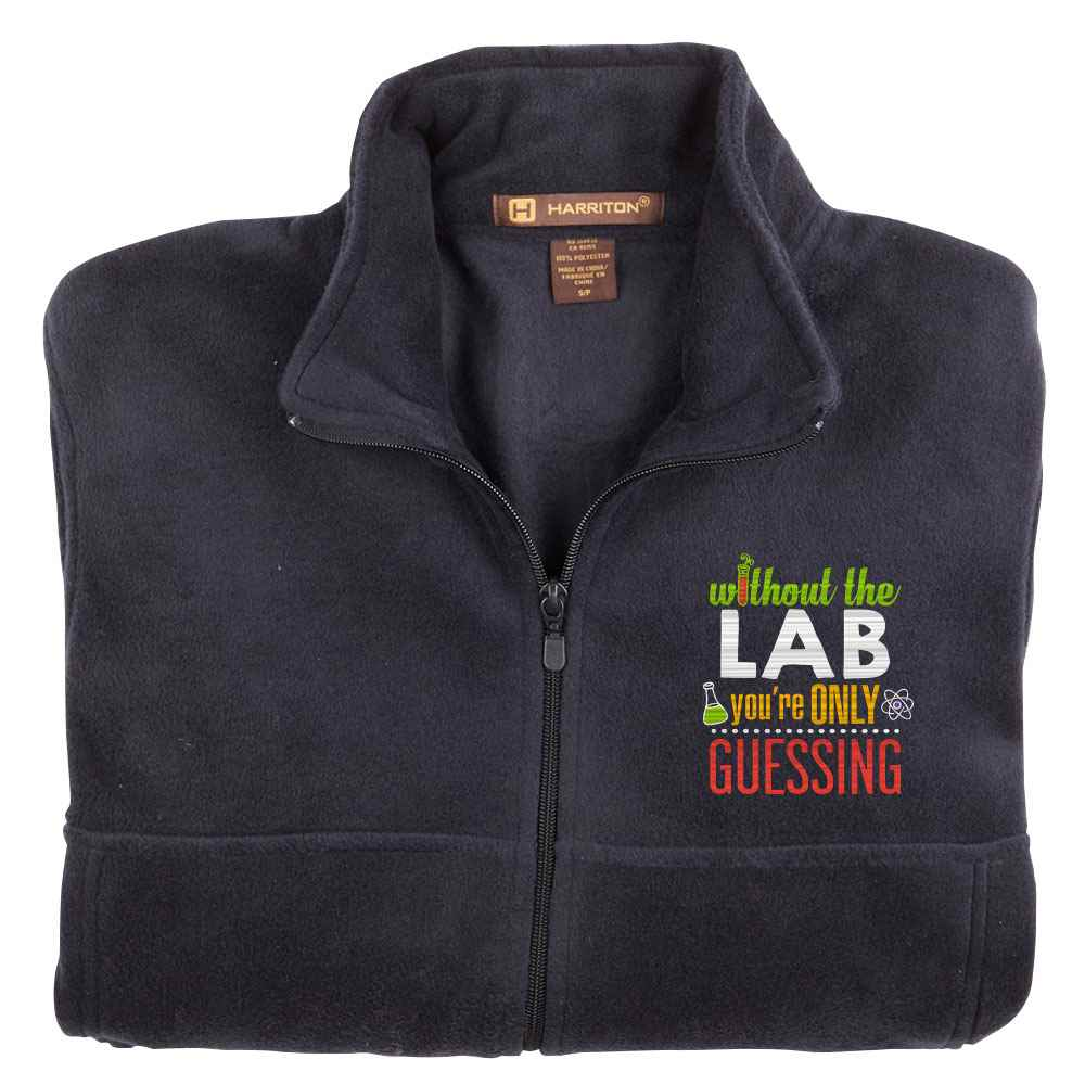 Without The Lab You're Only Guessing Harriton® Fleece Full-Zip Men's Jacket - Personalization Available