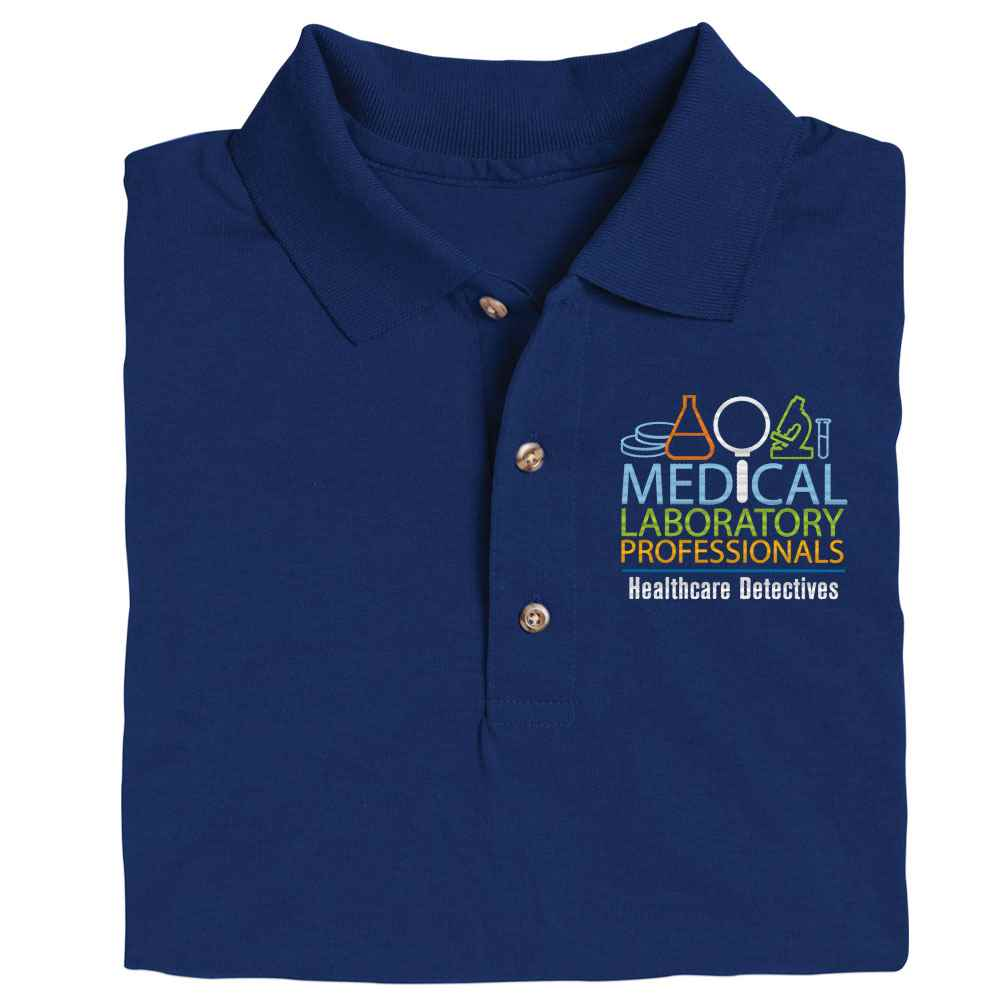 Medical Laboratory Professionals: Healthcare Detectives Gildan® DryBlend Jersey Polo - Personalization Available