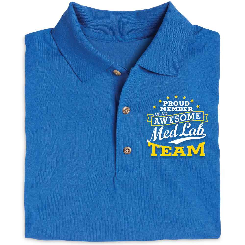 Proud Member Of An Awesome Med Lab Team Gildan® DryBlend Jersey Polo - Personalization Available