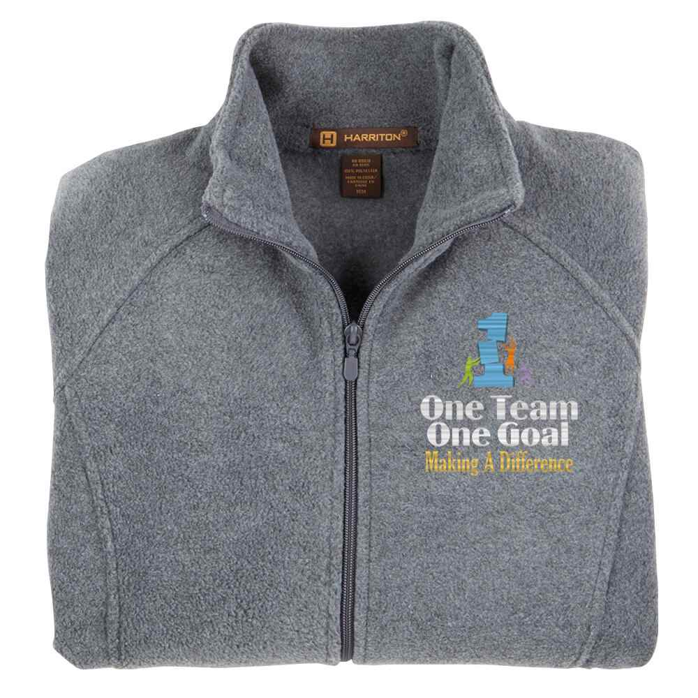 One Team One Goal Making A Difference Harriton Fleece Women's Jacket- Personalization Optional