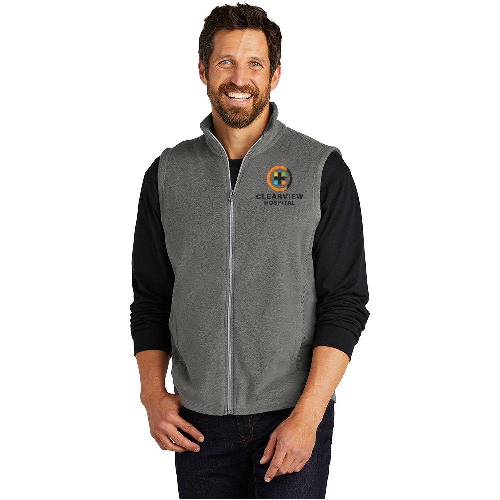 Port Authority® Men's Full-Zip Microfleece Vest - Personalization Available
