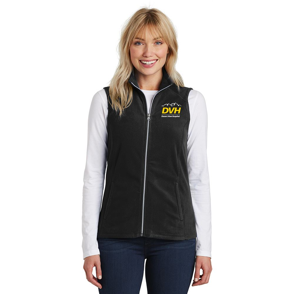 Port Authority® Women's Full-Zip Microfleece Vest - Embroidery Personalization Available