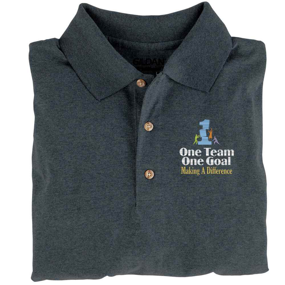 One Team, One Goal: Making A Difference  Gildan® Dryblend Jersey Polo - Personalization Available