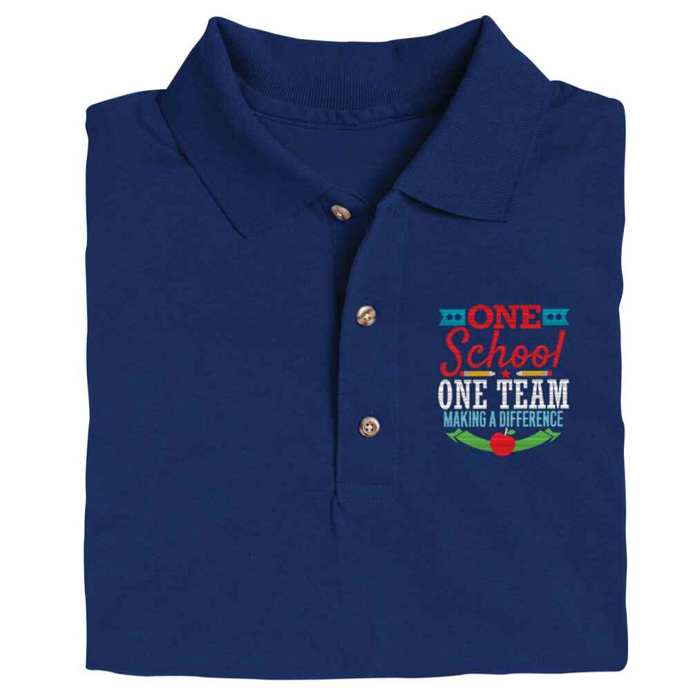 One School, One Team: Making A Difference Gildan® DryBlend Jersey Polo - Personalization Optional