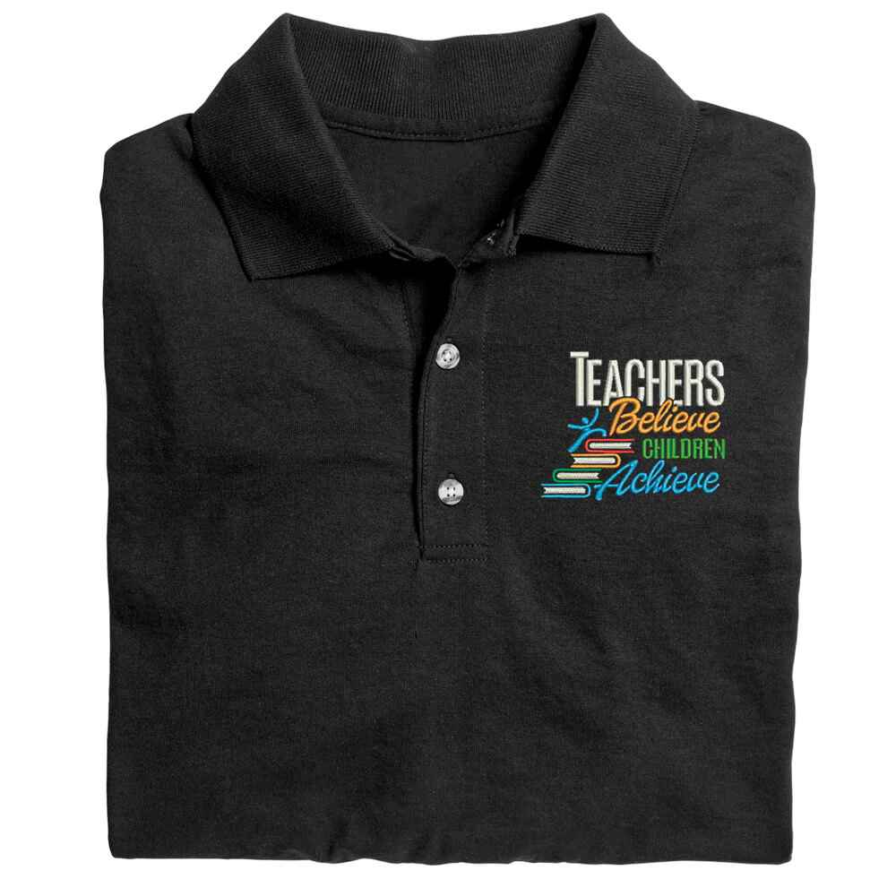 Teachers Believe, Children Achieve Gildan® DryBlend Jersey Polo - Embroidery Personalization Available