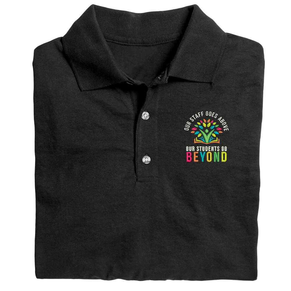 Our Staff Goes Above, Our Students Go Beyond Gildan® DryBlend Jersey Polo - Embroidery Personalization Available