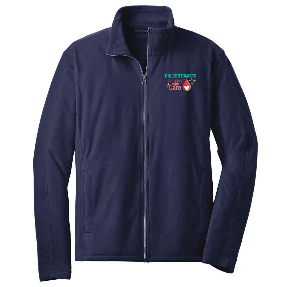 Phlebotomists: Collecting With Care Port Authority® Full-Zip Microfleece Jacket - Personalization Available