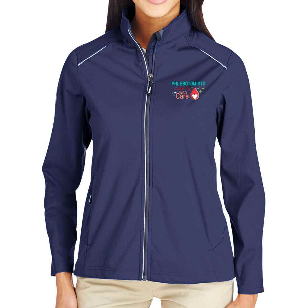 Phlebotomists: Collecting With Care Core 365® Full-Zip Three-Layer Knit Jacket - Personalization Available