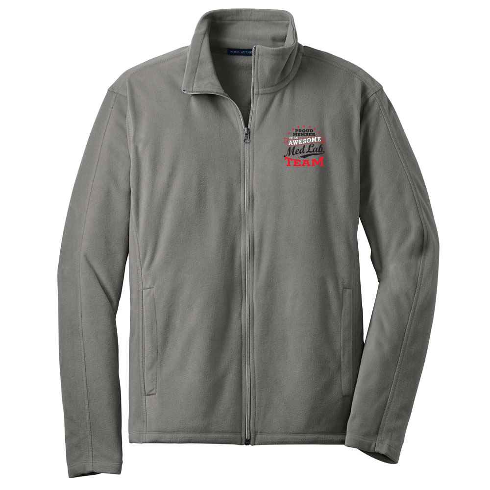 Proud Member Of An Awesome Med Lab Team Port Authority® Full-Zip Microfleece Jacket - Personalization Available