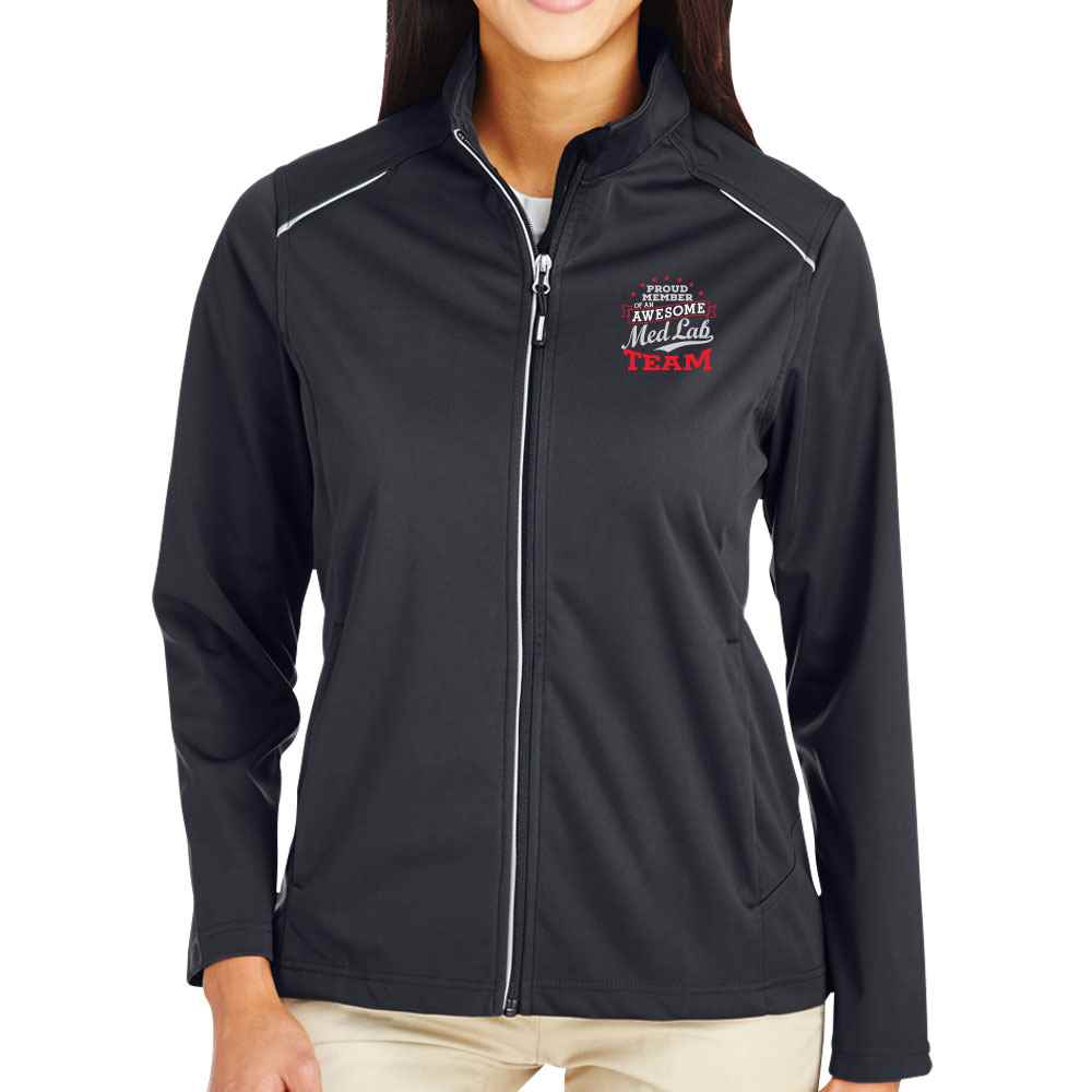 Proud Member Of An Awesome Med Lab Team Core 365® Full-Zip Three-Layer Knit Jacket - Personalization Available