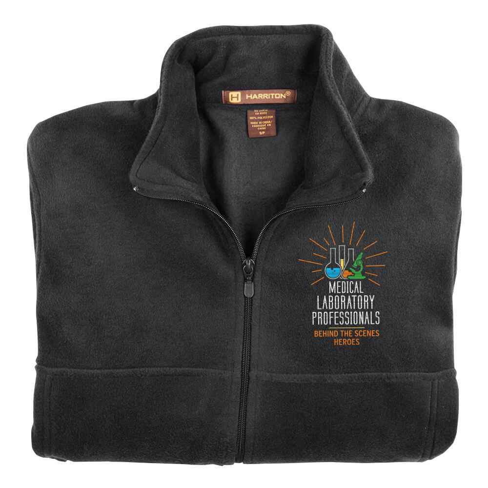 Medical Laboratory Professionals: Behind The Scenes Heroes Harriton® Fleece Full-Zip Men's Jacket - Personalization Optional