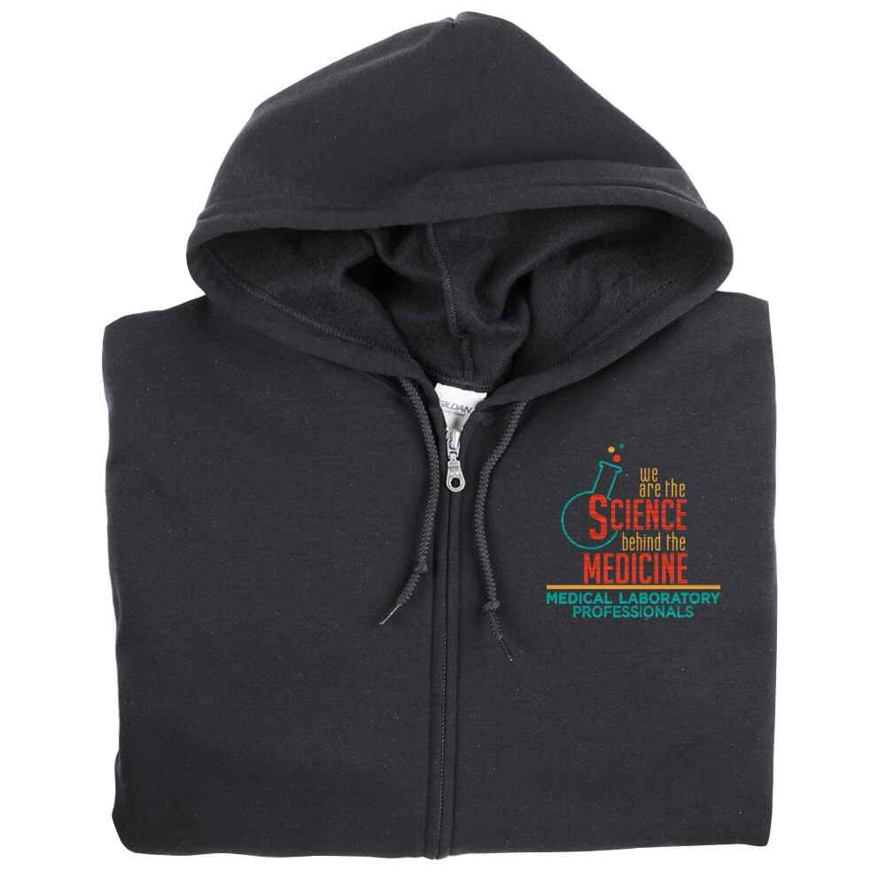 We Are The Science Behind The Medicine Gildan® Full-Zip Hooded Sweatshirt - Personalization Available