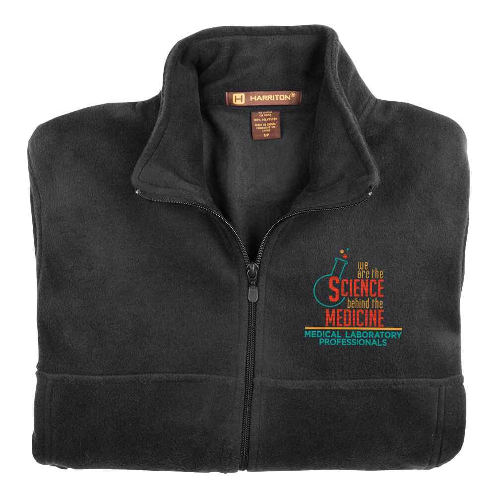 Medical Laboratory Professionals: We Are The Science Behind The Medicine Harriton® Fleece Full-Zip Men's Jacket - Personalization Available