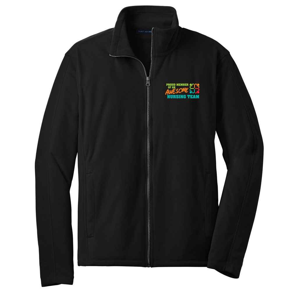 Proud Member Of An Awesome Nursing Team Port Authority® Full-Zip Microfleece Jacket - Personalization Available