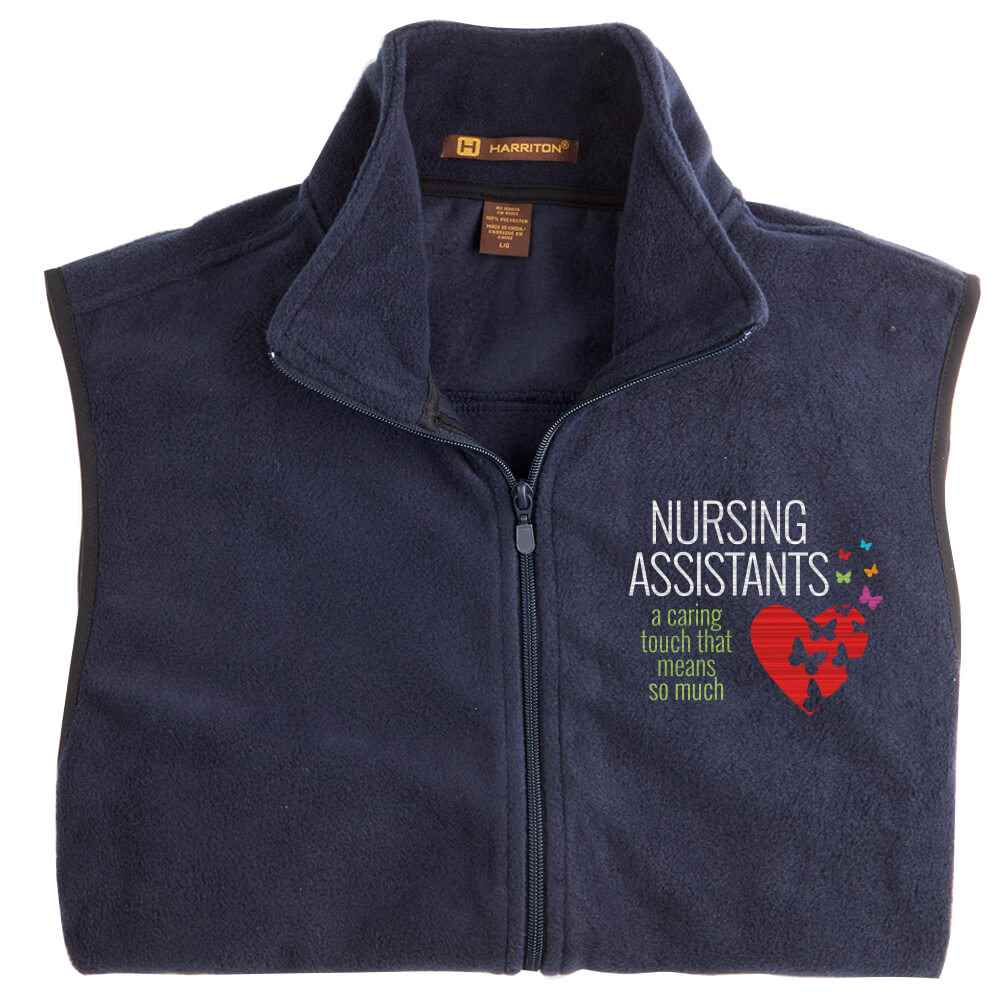 Nursing Assistants: A Caring Touch That Means So Much Harriton® Full-Zip Fleece Vest - Personalization Available