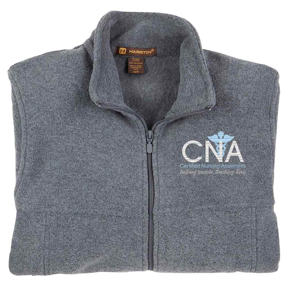 Certified Nursing Assistants: Helping People, Touching Lives Harriton® Full-Zip Fleece Jacket - Personalization Available