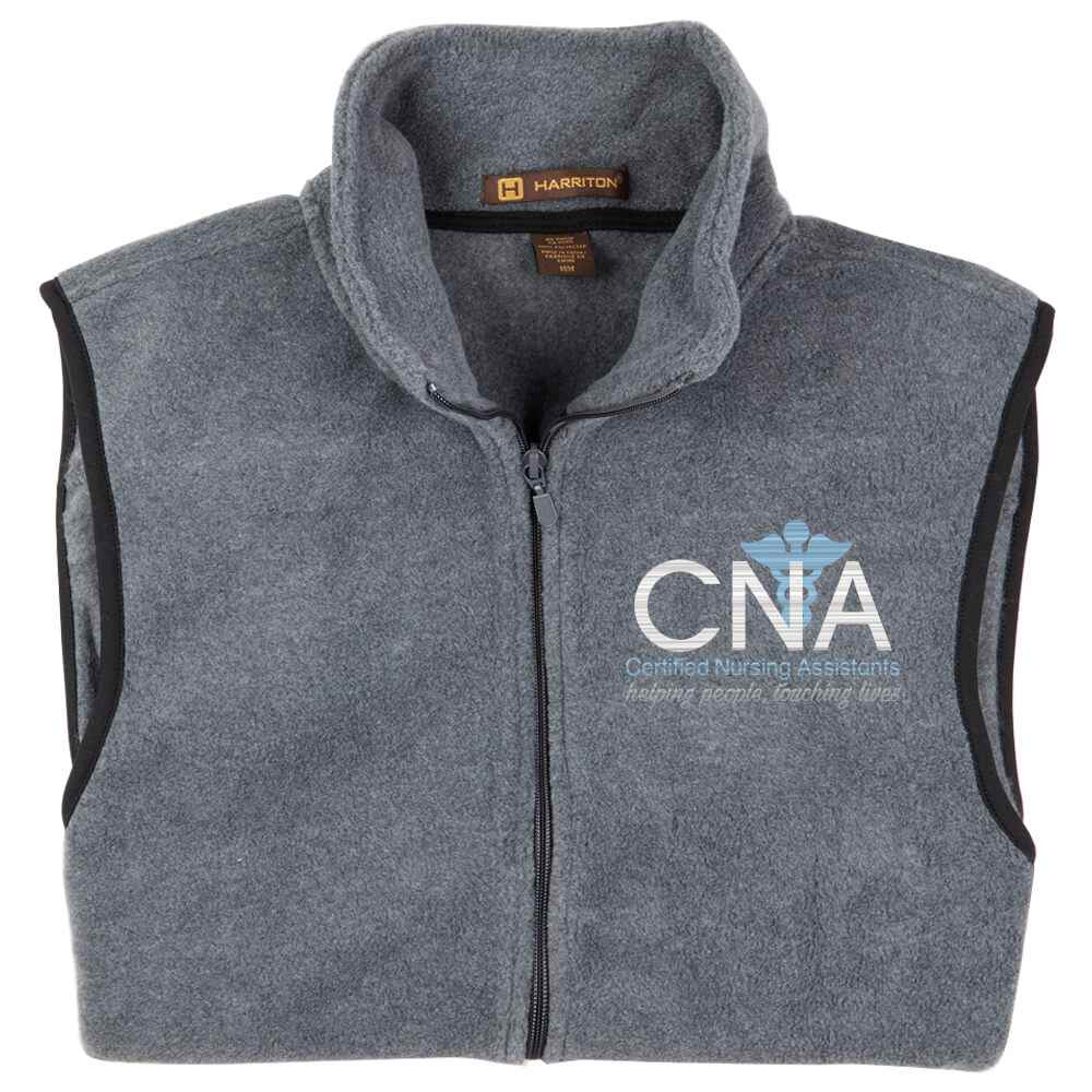 Certified Nursing Assistants: Helping People,Touching Lives Harriton® Full-Zip Fleece Vest - Personalization Optional