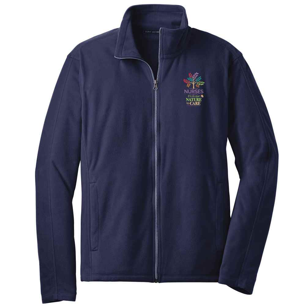 Nurses: It's In Our Nature To Care Port Authority® Full-Zip Microfleece Jacket - Personalization Available