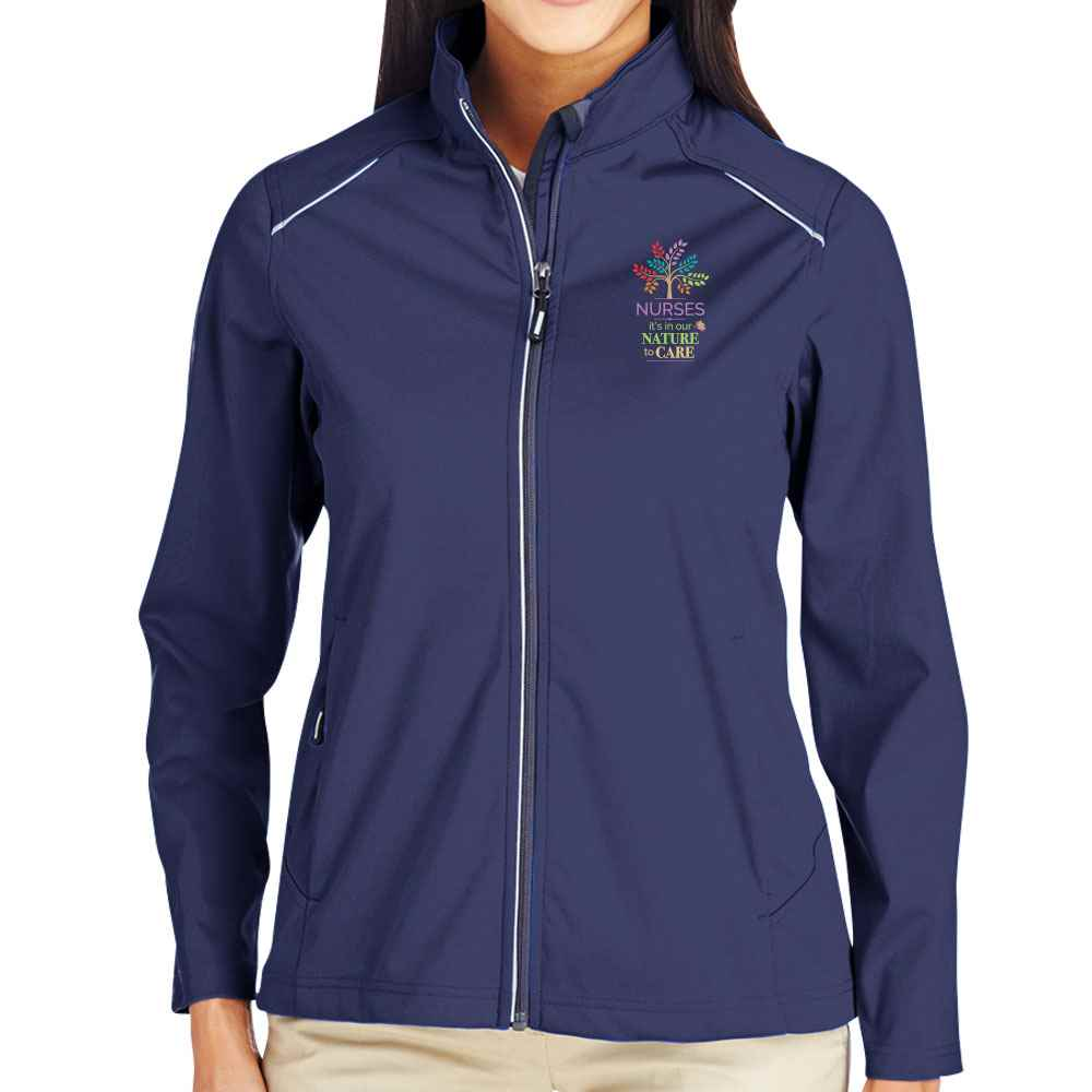 Nurses: It's In Our Nature To Care Core 365® Three-Layer Knit Full-Zip Jacket - Personalization Available