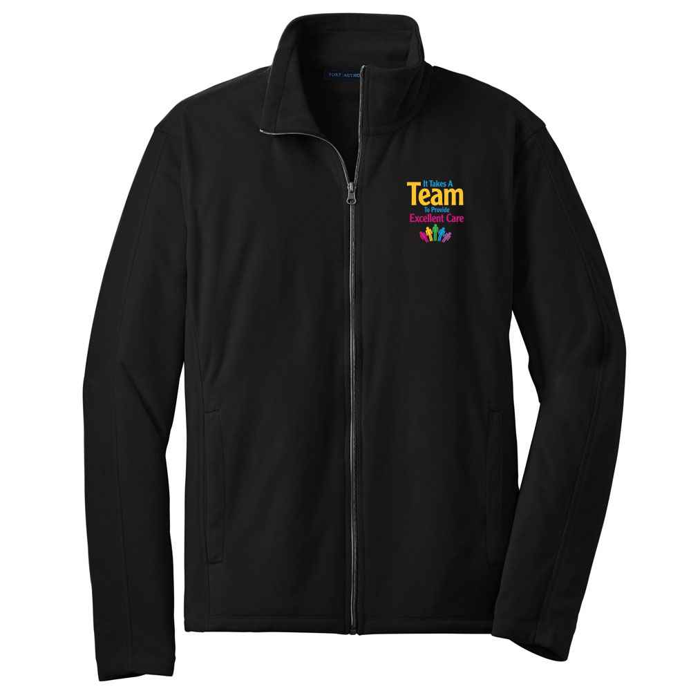 It Takes A Team To Provide Excellent Care Port Authority® Full-Zip Microfleece Jacket - Personalization Available