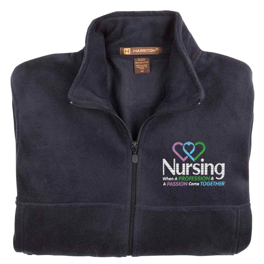 Nursing: When A Profession & A Passion Come Together Harriton® Full-Zip Fleece Jacket - Personalization Available