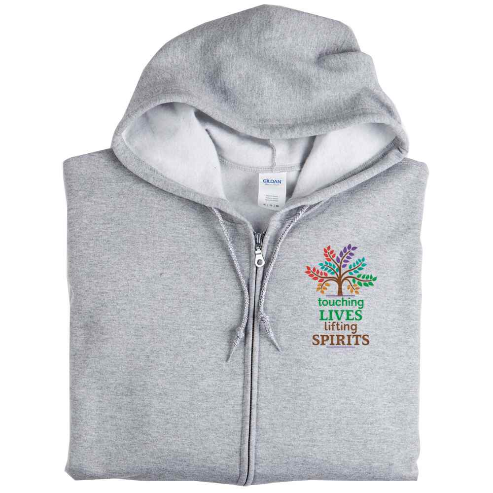Touching Lives, Lifting Spirits Gildan® Heavy Blend® Full-Zip Hooded Sweatshirt - Personalization Optional