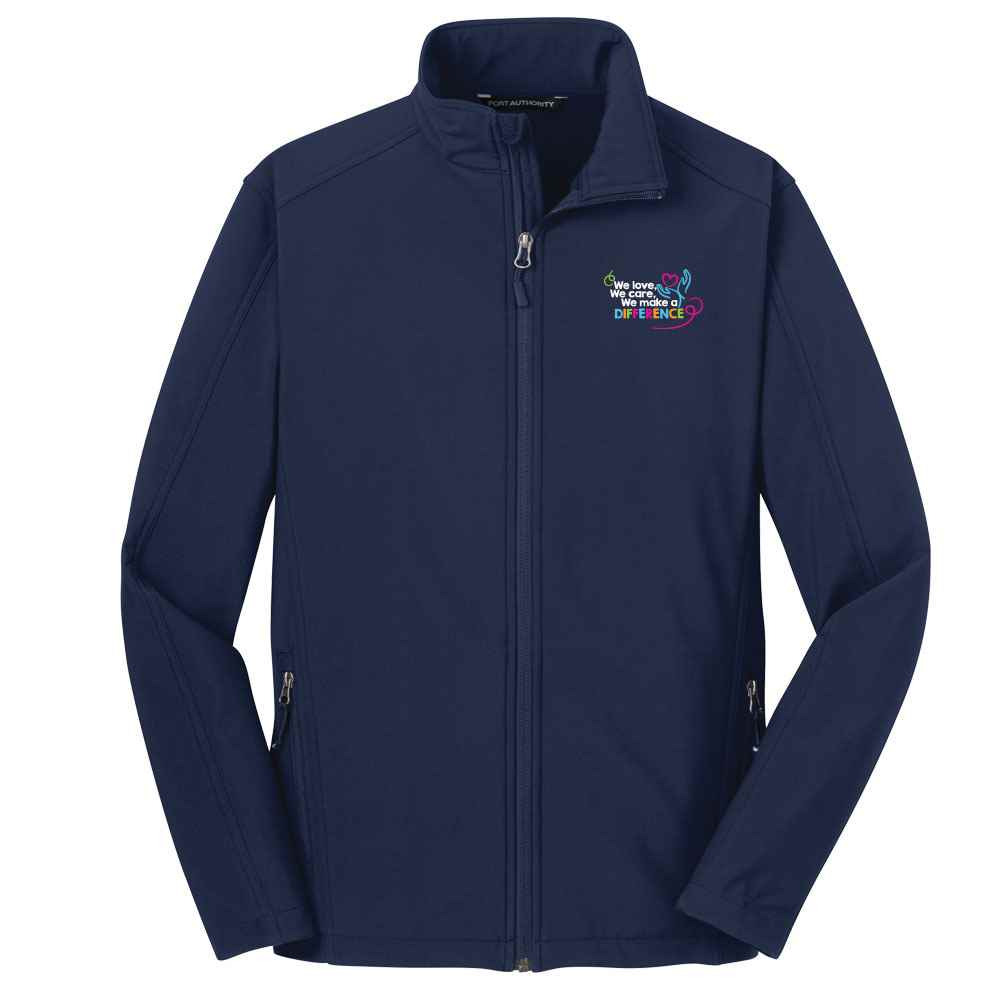 We Love, We Care, We Make A DIfference Port Authority® Core Soft Shell Jacket - Personalization Available