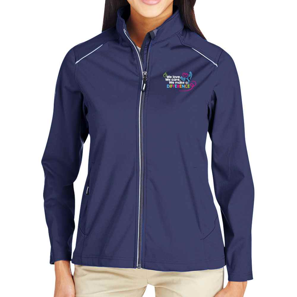 We Love, We Care, We Make A Difference Core 365® Full-Zip Three-Layer Knit Jacket - Personalization Available